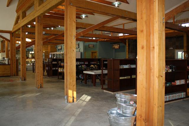 An inside look at Water Fresh Farm Marketplace, which will be open to the public beginning on January 5th.  Photo by Meghan Murdock.