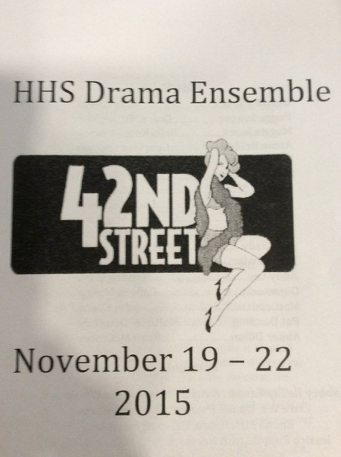 The Hopkinton High Drama Department provided '42nd Street' playbills before their second show on Friday. Photo by Sabrina Martin.