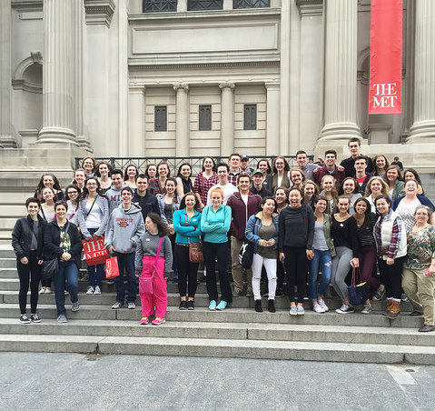 Students in front of the MET. Photo courtesy of Mrs. Williams