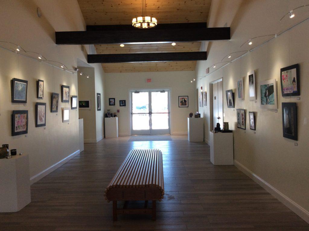 Wide Shot of Art Exhibition. Photo by Victor Estrella
