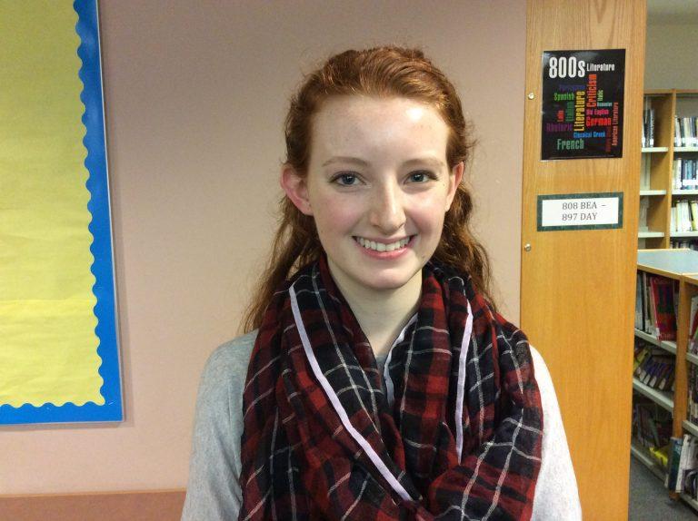Maggie Reynolds, Northeastern Division winner of DAR Good Citizen award. Photo by Josh Normandeau.