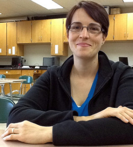 Chemistry teacher Devon Grilly is willing to share her iknowledge on the creation of elements to any student that is curious.