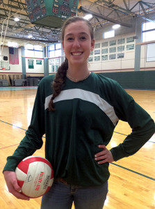 Photo By: Cassandra Boyce Junior, Holly Adams, looks forward to playing her fourth and final season for Hopkinton's Varsity Volleyball Team next year.