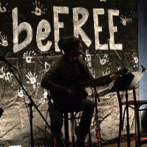 Matthew Dickason preforms at BeFree Coffeehouse.
