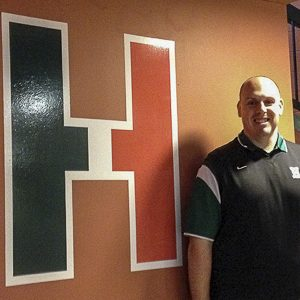 Vice Principal Justin Pominville settles in nicely into the HHS administration. Photo by: Sean Kelly