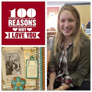 "For Christmas this year Junior Julia Krapf gave her parents a ""100 reasons why I love you"" scrapbook. Photo by Shae Feather."