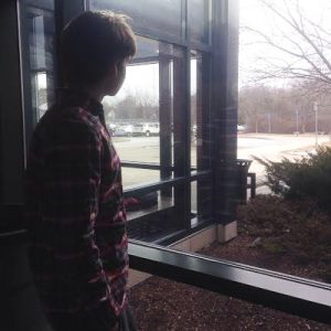 Junior Erick Landreth ponders what he steps he will take to afford college next year. Photo by Trevor Perkins,