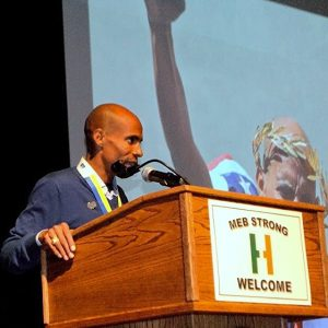 Meb Keflezighi, winner of the 2014 Boston Marathon, has plans to defend his title and continue pushing himself. Photo by Jillian Sullivan.