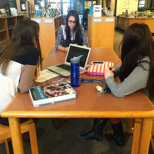 For group studying, students often reside to the library. Photo by Jillian Sullivan.