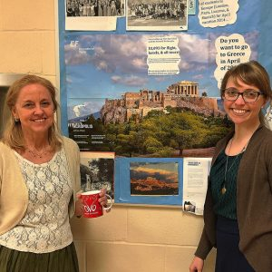 After months of planning, Ms. Martin and Ms. Forsythe are ready to take off to Greece. Photo by Victoria Esper.