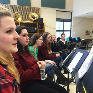 Noteworthy Rehearsal allows students from different grades and social circles to come together and foster a common love for music. Photo by Amanda Dings.