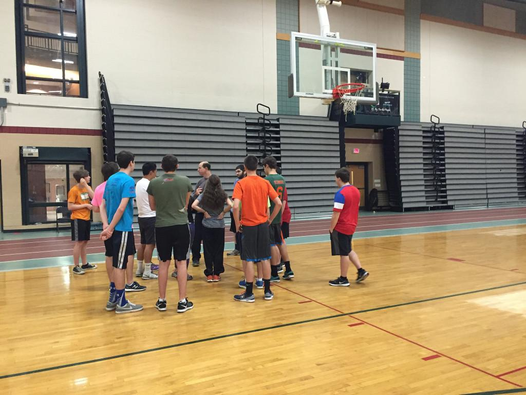 Mr. Miller instructs his personal fitness class in the Athletic Center. Photo by: Julia Joshi and Brittany Power