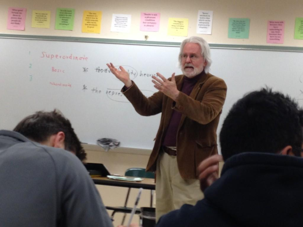 Some students study by going to extra help. For seniors taking AP Psychology, study sessions taught by all three teachers--Mr. Hamilton, Mr. Sullivan, and Ms. Griffey--were given each day after school in the week leading up to finals.