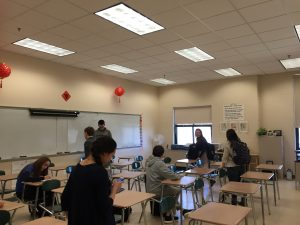Students in Mandarin Class at Hopkinton High School. Photo by Meghan Clark.