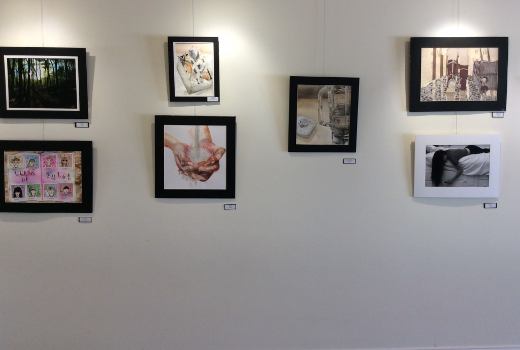 Multiple Displays of artwork presented at the Hopkinton Center for the Arts Photo by Victor Estrella