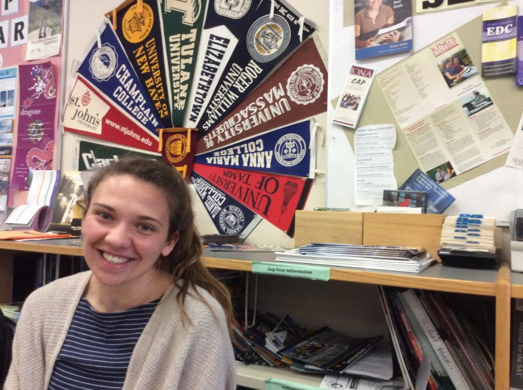 """I am going to Emmanuel College in Boston. I am not sure what I am studying, either biology or elementary education. I chose this school because I wanted to go somewhere in the city because I wanted a change of pace from Hopkinton. I also wanted to play division three soccer and Emmanuel is one of the only schools that offers it."""