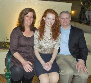 Maggie Reynolds and her parents at the DAR Massachusetts State conference on March 12 where Maggie won the DAR Massachusetts State Good Citizen award. Photo courtesy of Maggie Reynolds.